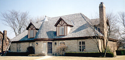 Repaired Cedar Roofing